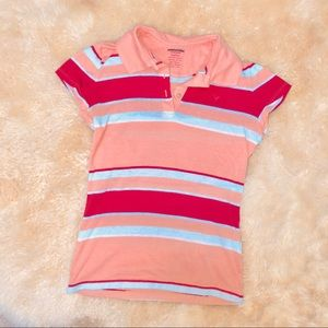 American Eagle Outfitters Tops - American Eagle striped short sleeve polo t-shirt